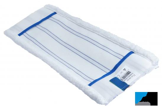 Насадка для плоской швабры 40*11см микроволокно с полосами скольжения, карманы