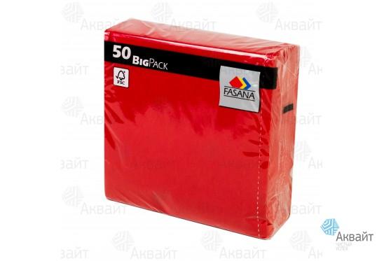 Салфетки Fasana 33*33 см, 3 слойные, красные(50шт/уп)