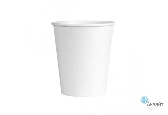 Стакан бумажный 250 мл 50шт/уп., белый, для горячих напитков